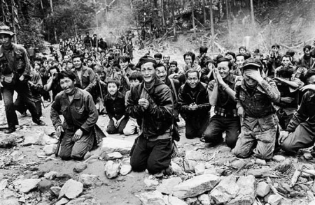 Hmong evacuees following the end of the Secret War