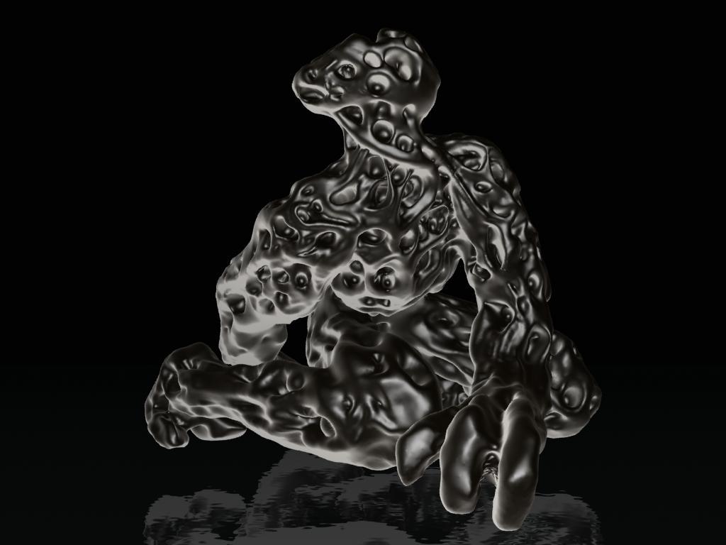 sculpture attempts to capture the Bangungot's movement